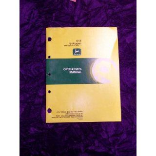 John Deere 915 V Ripper OEM OEM Owners Manual OMN200397 John Deere Books