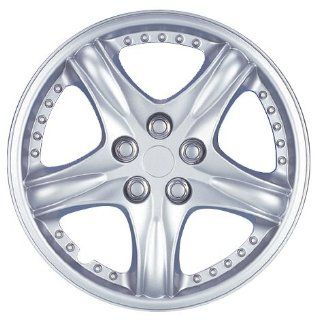 """Drive Accessories KT919 15CS 15"""" Plastic Wheel Cover, Silver Lacquer And Chrome: Automotive"""