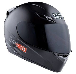 2013 AGV K3 Mono Motorcycle Helmets   FLAT BLACK MD: Automotive