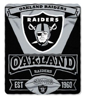 Oakland Raiders 50x60 Marque Design Fleece Blanket : Throw Blankets : Sports & Outdoors