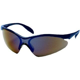 US Safety U93784 Citation Series 937 Wraparound Safety Glasses with Paddle Temples, Blue Mirror Lens, Blue Frame (Box of 12) Industrial & Scientific