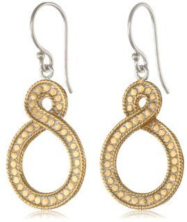 """Anna Beck Designs """"Timor Twisted"""" 18k Gold Plated Small Twisted Drop Earrings Jewelry"""