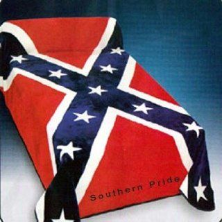 Rebel Flag Southern Pride Korean Style Mink Blanket Queen   Bed Blankets