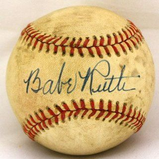 Babe Ruth Signed Ball   Single Hof Nice   JSA Certified   Autographed Baseballs Sports Collectibles