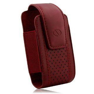 Naztech Executive Case   Small/Medium Flip Phones   Blackberry, HTC, Samsung, LG, Motorola, and Nokia   Burgundy: Cell Phones & Accessories