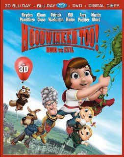 Hoodwinked Too! Hood Vs. Evil [Five Disc Combo: Blu ray 3D/Blu ray/DVD/Digital Copy/Bonus CD]: Glenn Close, Hayden Panettiere, Cheech Marin, Patrick Warburton, Joan Cusack, Bill Hader, David Ogden Stiers, Amy Poehler, Cory Edwards, Martin Short, Mike Disa,