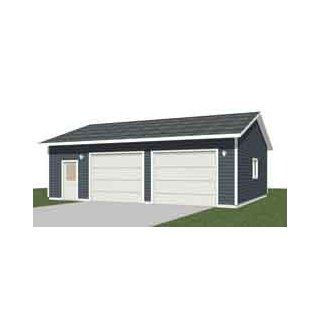 Garage plans two car garage with loft plan 856 1 for Garage bay size