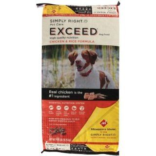 Simply Right Pet Care Exceed Chicken & Rice Formula Dog Food   44 lb  Dry Pet Food