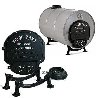 Vogelzang Deluxe Airtight Barrel Wood Stove Kit: Patio, Lawn & Garden