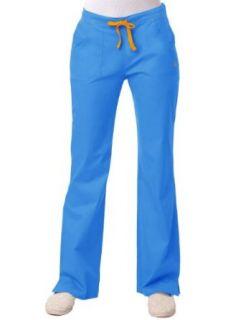 Maevn 'Blossom Multi Pocket Fashion Flare Leg Pant' Scrub Bottoms Clothing