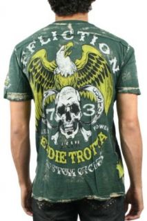 Affliction   Mens Trotta Cycles V Neck Henley In Hunter Green Bleach Brush, Size Small, Color Hunter Green Bleach Brush at  Men�s Clothing store