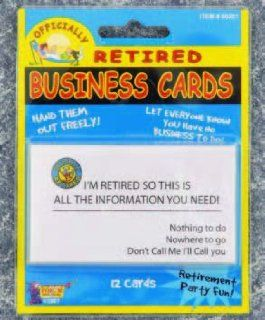 Retired Business Cards (Pack of 12): Toys & Games