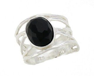 Silver Jewelry, Ring 925 Sterling Silver Jewelry. 8/10mm Oval Cabochon Synthetic Black Onyx. Hand Made and Designed in Israel By Bili Silver. Shipped Directly From Tel Aviv, IL in a Gift Box. US Sizes 7 or 8. Great Gift For Wedding, Bridesmaid, Bat Mitzv