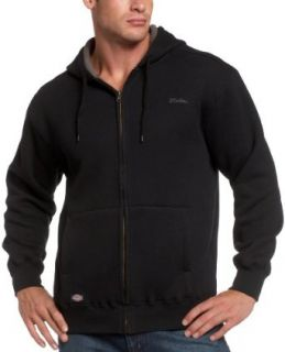 Dickies Men's Long Sleeve Thermal Hoodie With Sherpa Lining, Black, 4X Large at  Men�s Clothing store