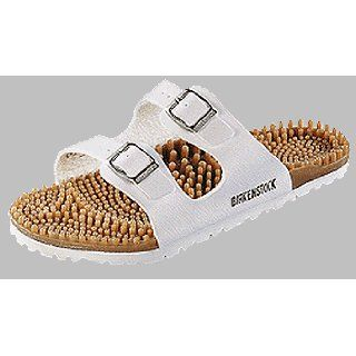 Birkis noppys Super Noppy in size 46.0 W EU made of Birko Flor in White with a regular insole: Shoes