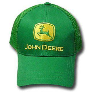 ... JOHN DEERE TRUCKER HAT CAP MESH FARM LOGO GREEN ADJ  Sports   Outdoors  ... 914f021df43f