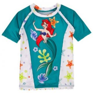 Princess Ariel Little Mermaid Rash Guard Swimsuit Top Size XS 4/4T Clothing