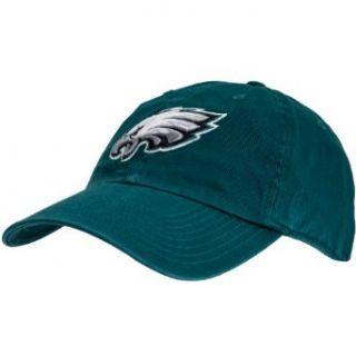 Philadelphia Eagles   Mens   Logo Clean Up Adjustable Baseball Cap Dark Green: Clothing