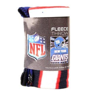 "New York Giants Fleece Blanket (Measures Approximately 50"" x 60"")   Throw Blankets"
