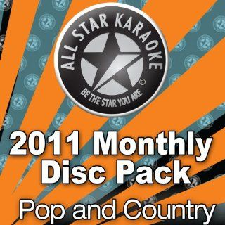 All Star Karaoke 2011 Pop and Country Hits 3 Disc Pack (ASK 2011 PK) Music