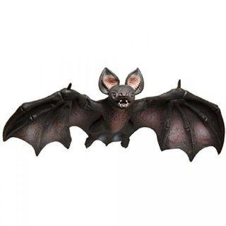 Poseable Large Vampire Bat: Foam filled Latex 32 inch Wingspan Hanging Halloween Prop: Toys & Games