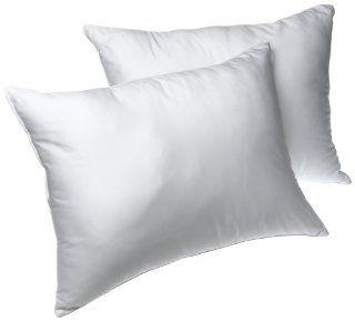 Louisville Bedding Bridal Beginnings 400 Thread Count Cotton Set of 2 Queen Bed Pillows   Hypoallergenic Pillows