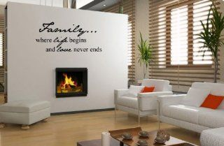 Family where life begins and love never ends   Vinyl Wall Art Decal Stickers Decor Graphics   Family Is Where Life Begins And Love Never Ends