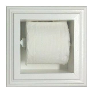 (TP 1) Recessed In the wall Bathroom Toilet Paper Holder, inset in the wall between studs, Solid Wood, accommodates both single and double size rolls, Enamel finish or stain finish in your color choice, or unfinished also Replace those ugly rusting metal