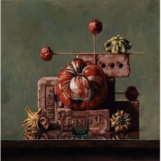 Art: Turban Gourds & Four Bricks : Pastel : Daniel Greene N. A.