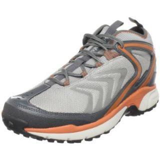 Columbia Men's Ravenice Omni Tech Trail Running Shoe, Light Grey/Burnt Orange, 11 M US Shoes