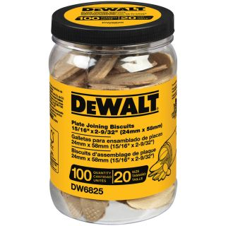 DEWALT 100 Count 20 Size Plate Joining Biscuits