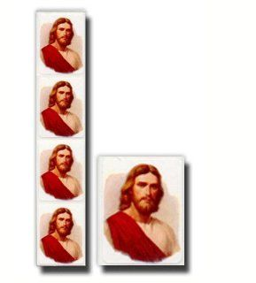 Gary Kapp Stickers, LDS Stickers, Savior with Red Robe, Package of Eight  This Design Is in Spanish. Each Package Contains 72 Coordinating Stickers  Great for Scrap booking, Card Making and Designing, and Other Craft Projects  Primary, Young Women, Young M