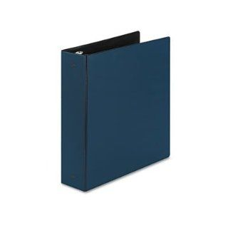 Avery Consumer Products Products   Economy Ring Binder, 2amp;quot; Capacity, 11amp;quot;x8 1/2amp;quot;, Blue   Sold as 1 EA   Light use binder features round rings and two interior storage pockets for loose materials on both sides of untabbed divider. Rou