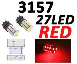 IG Tuning 3157 27 SMD Red LED Bulbs Reverse Light 3156 3757 4114 4157 Backup Daytime Running Light (DRL), Turn Signal Light, Corner Light, Stop Light, Parking Light, Side Marker Light, Tail Light, and Backup Lights 12V Automotive