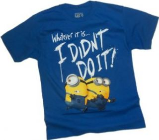 """""""I Didn't Do It!""""    Minion    Despicable Me 2 Youth T Shirt: Movie And Tv Fan T Shirts: Clothing"""