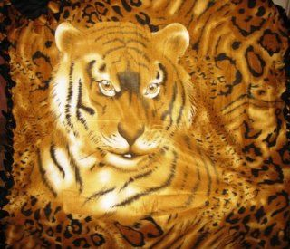 Tiger Fleece Blanket : Bed Blankets : Everything Else