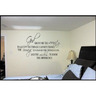 Serenity Prayer Wall Decal Quote Vinyl Love Sticker Religious Christian   Other Products