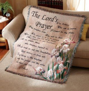 Collections Etc   The Lord's Prayer Tapestry Throw Blanket   Religious Gifts