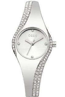 Oasis B1217 Ladies Silver Bangle Watch Watches