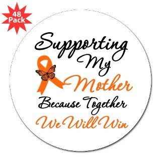 Orange Ribbon Butterfly Round Sticker by hopeanddreams