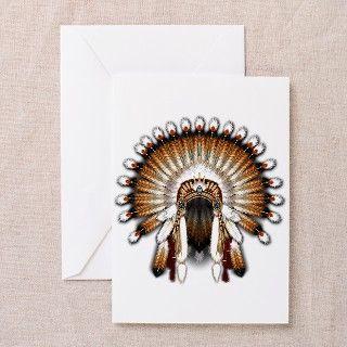 Native War Bonnet 01 Greeting Cards (Pk of 10) by naumaddicarts