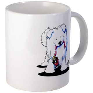 Penguin Sled Samoyed Mug by kiniart