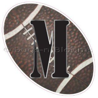 """""""M"""" Football Alphabet Letter Name Wall Sticker (6"""" W x 6""""H)   Decal Letters for Children's, Nursery & Baby's Sport Room Decor, Baby Name Wall Letters, Boys Bedroom Wall Letter Decorations, Child's Names. Sports Balls Mur"""