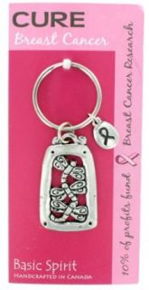 Dragonfly Cure Breast Cancer Pink Ribbon Global Giving Keychain: Clothing