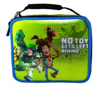 """Microban Disney Pixar Movie Series """"Toy Story"""" No Toy Gets Left Behind Single Compartment Soft Insulated Lunch Bag with 3 D Image of Buzz Lightyear, Sheriff Woody, Rex, Bullseye and Slinky Dog (Bag Dimension: 9 1/2"""" x 8"""" x 3""""): Toy"""