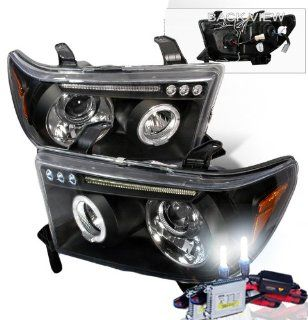 High Performance Xenon HID Toyota Tundra LED Projector Headlights with Premium Ballast (Black Housing w/ Clear Lens & 8000K HID Lighting Output) Automotive