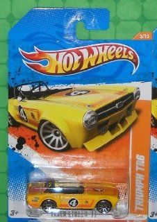 2011 Hot Wheels (70/244)   Track Stars '11 (5/15)   Triumph TR6 (Yellow): Toys & Games