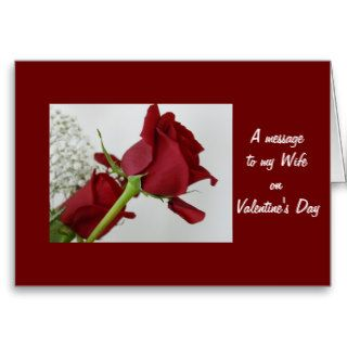 A message to my Wife/ on Valentine's Day Greeting Cards