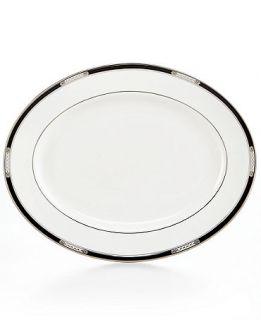 Lenox Dinnerware, Hancock Platinum White Oval Platter   Fine China   Dining & Entertaining