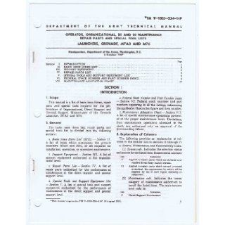 TM 9 1005 237 15P (June 1967) Operator, Organizational, DS, GS and DEPOT Maintenance Repair Parts Lists for BAYONET KNIFE M4, M5, M5A1, M6, and M7 with BAYONET KNIFE SCABBARD M8A1 (TECHNICAL MANUAL): Department of The Army Headquarters: Books